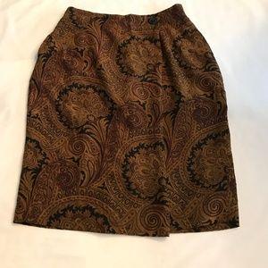 Jones New York 100% Silk Pencil Skirt. Sz: 8.
